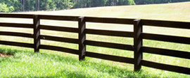 Ranch style fencing.