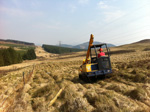 Construction of new agricultural fencing - click to enlarge